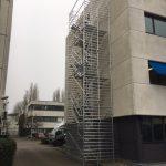 Aluminium trappentoren volledig opgebouwd