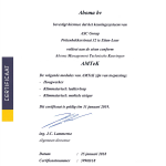 Aboma Certificaat 2018
