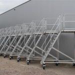 Verrijdbare aluminium trappen