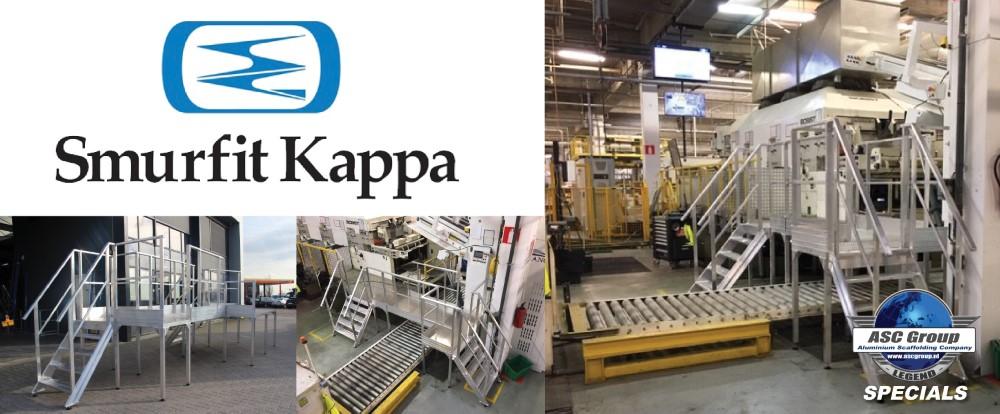 Aluminium overstapbordes in de fabriek van Smurfit Kappa