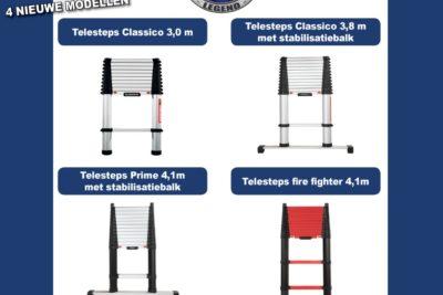 ASC breidt het aanbod telescopische ladders uit met nieuwe Telesteps!
