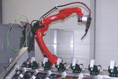 De nieuwe ASC lasrobot in bedrijf