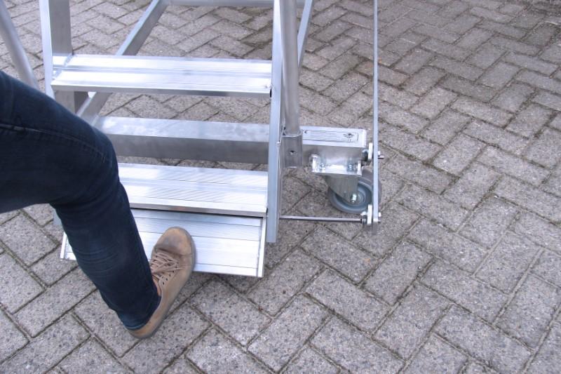 Remsysteem met trapvergrendeling