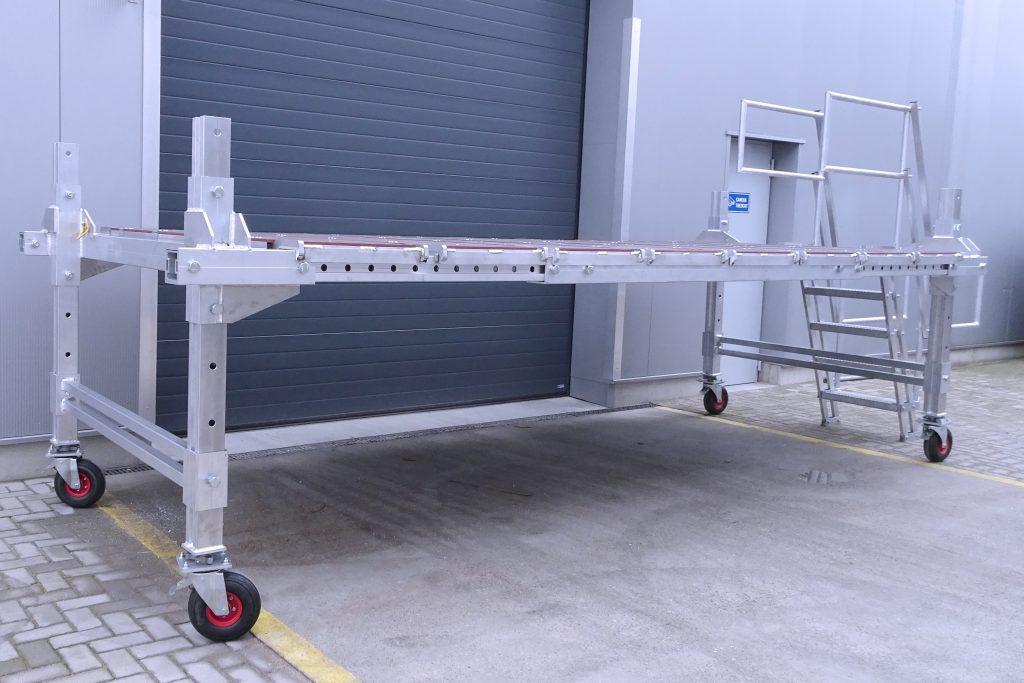 Verstelbaar werkbordes van aluminium