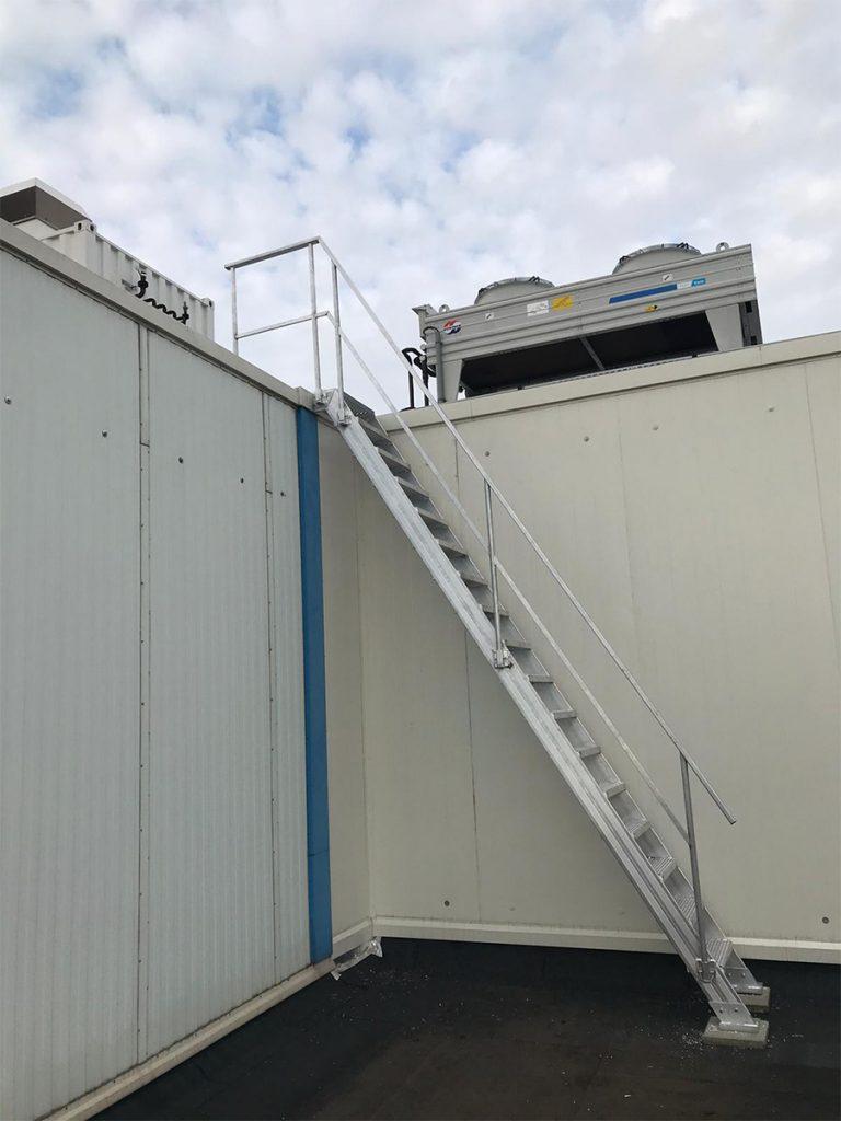Toegangstrap van aluminium dak Rotterdam
